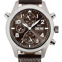 IWC Pilot Double Chronograph Steel 44mm Brown United States of America, California, Los Angeles