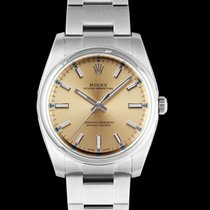 Rolex Steel Automatic Champagne 34mm new Oyster Perpetual 34