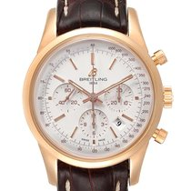 Breitling Transocean Chronograph Rose gold 43mm Silver United States of America, Georgia, Atlanta
