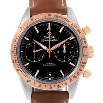Omega Speedmaster '57 pre-owned 42.5mm Black Chronograph Date Tachymeter Leather