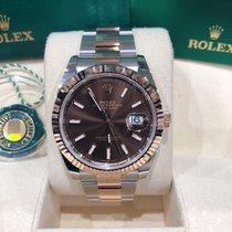 Rolex Datejust II Золото/Cталь 41mm Коричневый Без цифр