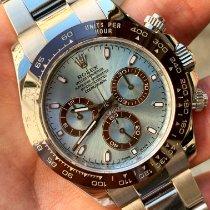 Rolex Daytona Platino 40mm Azul Sin cifras