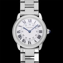 Cartier Steel Quartz Silver 29.5mm new Ronde Solo de Cartier