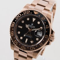 Rolex Or rose Remontage automatique Noir 40mm occasion GMT-Master II