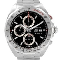 TAG Heuer Formula 1 Calibre 16 pre-owned 44mm Black Chronograph Date Tachymeter Steel