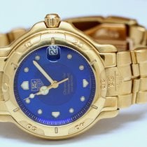TAG Heuer 6000 Yellow gold 36mm Blue No numerals