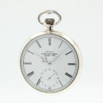 Zenith Silber Handaufzug Weiß Römisch 49mm gebraucht