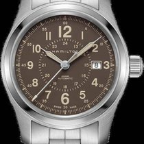 Hamilton Khaki Field Steel 42mm Brown