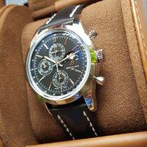 Breitling Transocean Chronograph 1461 Сталь 43mm Черный Без цифр