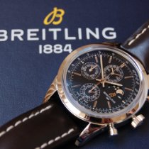 Breitling Transocean Chronograph 1461 Steel 43mm Black No numerals