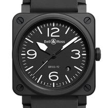 Bell & Ross BR 03-92 Ceramic Ceramic 42mm Black Arabic numerals United States of America, Texas, Houston