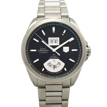 TAG Heuer Grand Carrera Staal 43mm Bruin