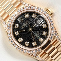 Rolex Automatic Black 26mm pre-owned Lady-Datejust