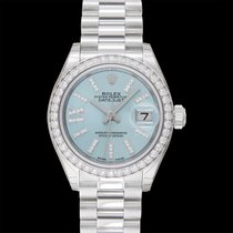 Rolex Platinum Automatic Blue 28.00mm new Lady-Datejust