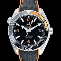 Omega Steel Automatic Black 43.5mm new Seamaster Planet Ocean