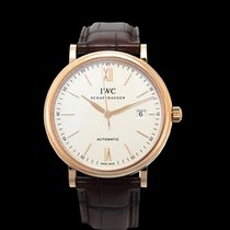 IWC Red gold Automatic Silver 40.00mm new Portofino Automatic