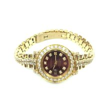 Rolex Datejust Geelgoud 26mm Rood