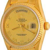 Rolex Day-Date 36 Oro amarillo 35mm Champán Romanos