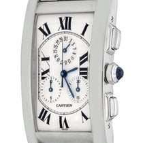 Cartier Tank Américaine White gold 26mm Silver Roman numerals United States of America, Texas, Dallas