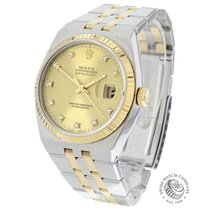 Rolex Datejust Oysterquartz Gold/Steel 34mm Champagne
