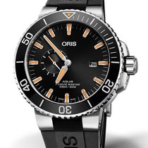 Oris 01 743 7733 4159-07 4 24 64EB Steel Aquis Small Second 45.5mm new