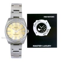 Rolex Oyster Perpetual 34 Steel 34mm Champagne No numerals
