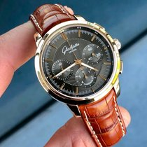 Glashütte Original Senator Chronograph occasion 40mm Gris Chronographe Cuir