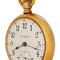 Illinois Yellow gold Manual winding Arabic numerals pre-owned
