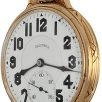 Illinois Watch pre-owned Yellow gold Arabic numerals Manual winding Watch only