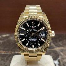 Rolex Sky-Dweller Желтое золото 42mm Черный Без цифр