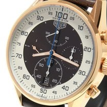 TAG Heuer Carrera Mikrograph Rose gold 43mm Brown No numerals