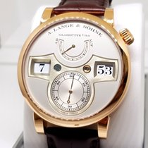 A. Lange & Söhne Red gold Manual winding 42mm pre-owned Zeitwerk