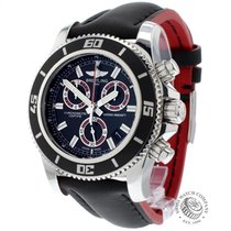 Breitling Superocean Chronograph M2000 Staal 44mm Zwart