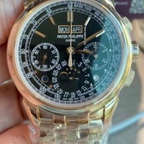 Patek Philippe Rose gold Manual winding Black No numerals 41mm new Perpetual Calendar Chronograph
