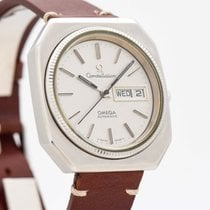 Omega Constellation pre-owned 36mm Silver Leather