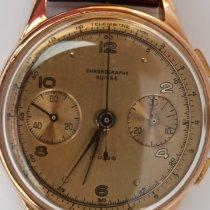 Chronographe Suisse Cie Pозовое золото Механические Золотой Aрабские 35mm подержанные