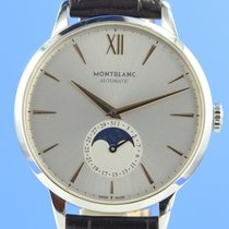 Montblanc pre-owned Automatic 39mm Silver Sapphire crystal