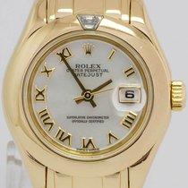 Rolex Pearlmaster Gelbgold 29mm Perlmutt