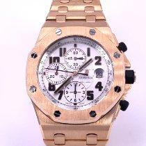 Audemars Piguet Royal Oak Offshore Chronograph occasion 42mm Blanc Chronographe Date Tachymètre Or rose
