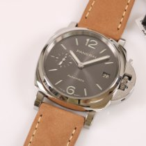 Panerai Luminor Due Acero 38mm Gris Arábigos