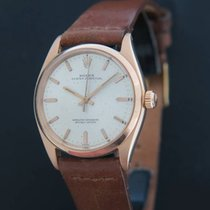 Rolex Oyster Perpetual 34 Or rose 34mm Argent