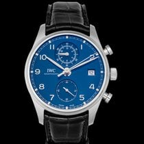 IWC Portuguese Chronograph Steel 42mm Blue United States of America, California, San Mateo