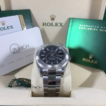 Rolex Sky-Dweller Stal 42mm Bez cyfr