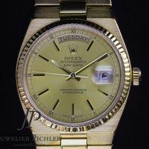 Rolex Day-Date Oysterquartz Żółte złoto 36mm Bez cyfr