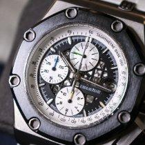 오드마피게 티타늄 자동 검정색 숫자없음 44mm 중고시계 로열오크 오프쇼어 크로노그래프