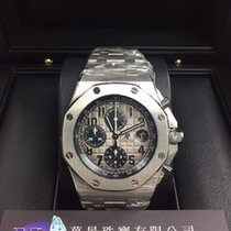 爱彼  Royal Oak Offshore Chronograph 铂 42mm 灰色 阿拉伯数字