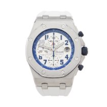 Audemars Piguet Royal Oak Offshore Chronograph Steel 42mm White Arabic numerals