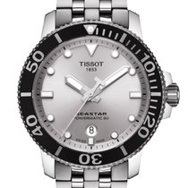 Tissot Seastar 1000 Zeljezo 43mm Srebro Bez brojeva