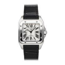 Cartier Santos 100 Steel 33.5mm Silver Roman numerals United States of America, Pennsylvania, Bala Cynwyd