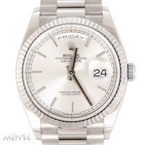 Rolex Day-Date 36 Or blanc 40mm Argent